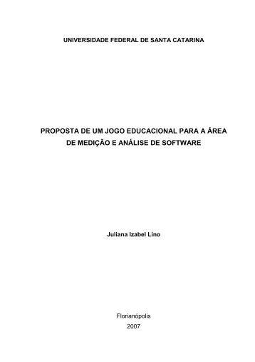 Proposta de um Jogo Educacional para a Área de Medição e ...