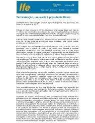 Terceirização, um alerta à presidente Dilma - UFRJ