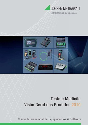 Equipamentos de Medição - Catálogo 2010 - Power LabSolutions