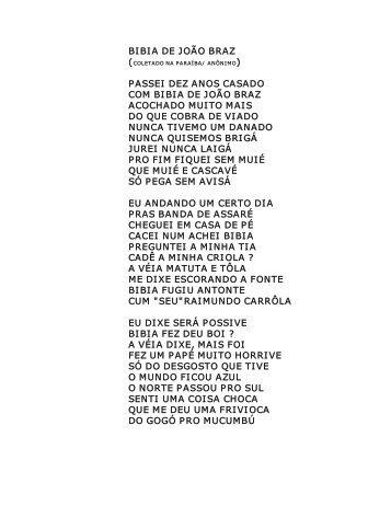 BIBIA DE JOÃO BRAZ ) PASSEI DEZ ANOS CASADO COM BIBIA ...