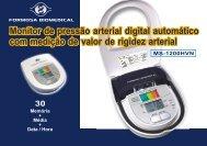 Monitor de pressão arterial digital automático com medição de valor ...