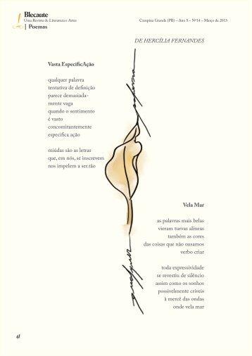 Vasta EspeficicAção e outros poemas, Por Hercília - Revista Blecaute