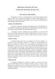 PREFEITURA MUNICIPAL DE CURUÁ SECRETARIA MUNICIPAL ...