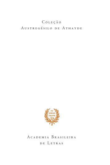 ABL-079 - Poesias Reunidas - ... - Academia Brasileira de Letras