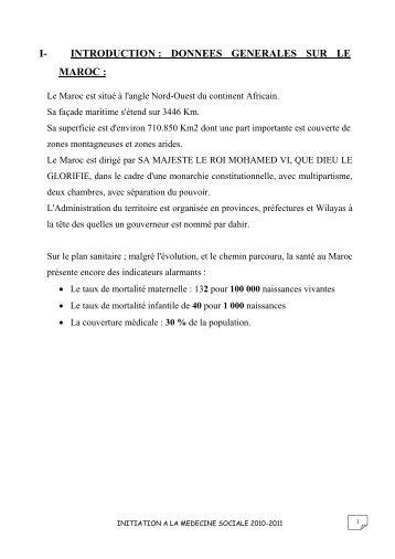 introduction : donnees generales sur le maroc - Faculté de ...