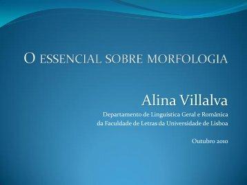 O essencial sobre morfologia - CLUL - Universidade de Lisboa