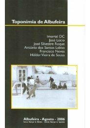 publicação - toponimia albufeira - Câmara Municipal de Albufeira