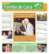 Jornal Família de Caná - Agosto de 2012