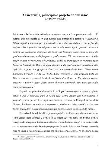 Texto da conferência - Secretariado Nacional de Liturgia