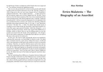 Errico Malatesta — The Biography of an Anarchist