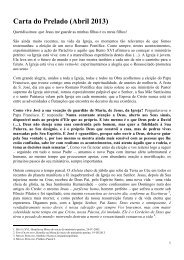 Carta do Prelado, Abril 2013 - Opus Dei