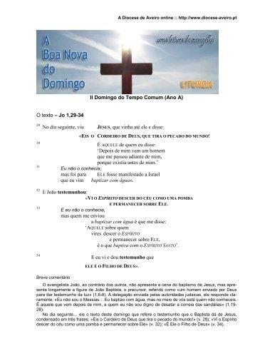 II Domingo do Tempo Comum (Ano A) - Diocese de Aveiro