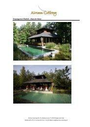 Dokumentation Traumgarten Thalwil - Catering