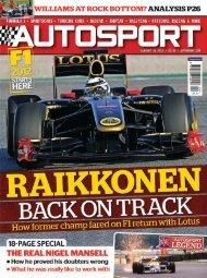 autosport says… - Mundo Motorizado