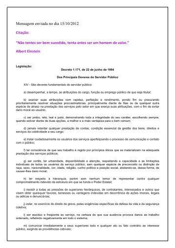 Mensagem enviada no dia 15/10/2012 - funag