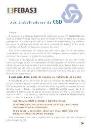 Aos trabalhadores da CGD - Sindicato dos Bancários do Centro
