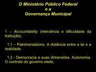 O Ministério Público Federal e a  Governança Municipal