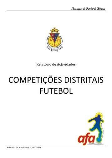 COMPETIÇÕES DISTRITAIS FUTEBOL - AF Algarve