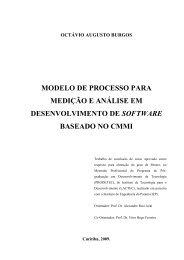 MODELO DE PROCESSO PARA MEDIÇÃO E ANÁLISE EM ... - Lactec