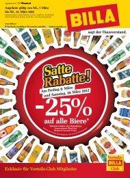 Billa Flugblatt bis 14.03.2012