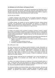 As Utilidades do Conflito Dentro da Empresa Familiar De ... - CRA/SP
