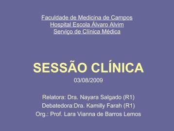 Sessao Clínica Diarréia - Faculdade de Medicina de Campos