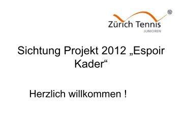Anforderungen des Regionalverbandes - Zürich Tennis