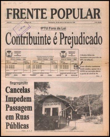 Cancelas Impedem Passagem em Ruas - Centro de Documentação ...