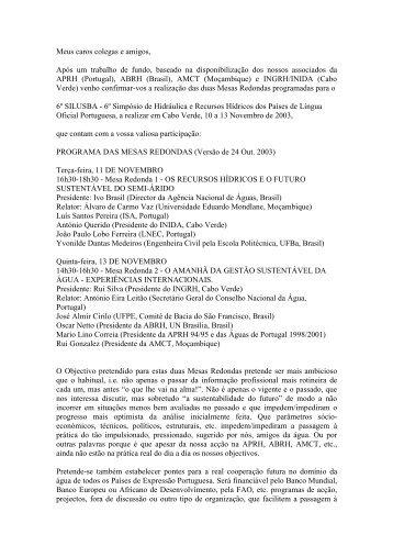 Mesas Redondas - APRH