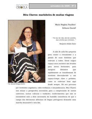 Rita Chaves: marinheira de muitas viagens - fflch - USP