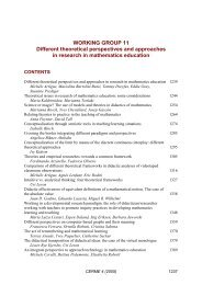 WORKING GROUP 11 Different theoretical perspectives and ...