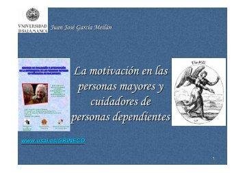 La motivación en las personas mayores y cuidadores de personas ...