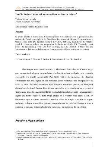 Um Cão Andaluz: lógica onírica, surrealismo e critica da ... - Intercom