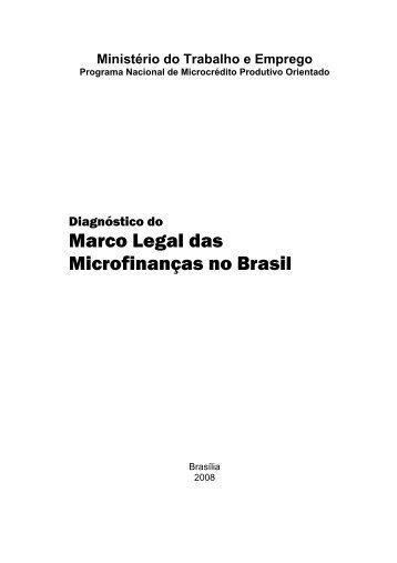 Marco Legal das Microfinanças no Brasil - Marca do Governo ...