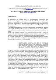 A Dinâmica Regional do Município de Alexânia-GO. INTRODUÇÃO ...