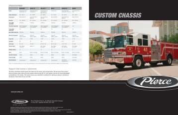 Custom Chassis Brochure - Pierce Manufacturing