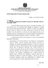 Ofício Circular nº 06/2011/Reitoria/IFS - IFTO