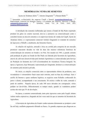 REGISTRO INÉDITO - Associação Brasileira de Milho e Sorgo
