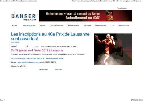 foto de International Press Review 2012 - Prix de Lausanne