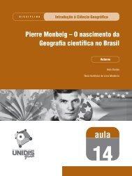 Pierre Monbeig - SEAD/UEPB - Secretaria de Educação a Distância ...