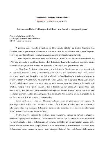 Amélia (2000) - Fazendo Gênero 10 - UFSC