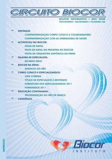 Jornal Circuito - Edição: Novembro / Dezembro 2011 - Biocor