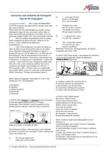 Figuras de Linguagem - Projeto Medicina