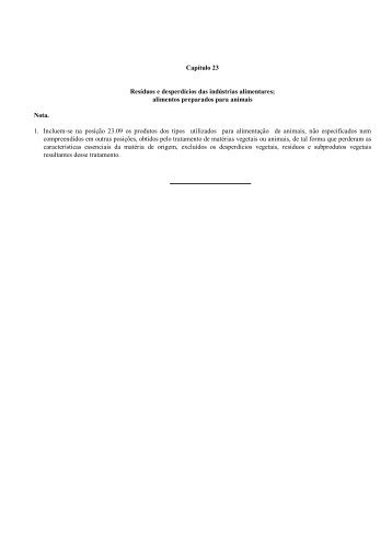 Capítulo 23 Resíduos e desperdícios das indústrias ... - Aladi
