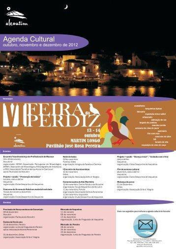 agenda out a dez 2012 - Câmara Municipal de Alcoutim