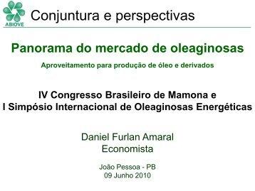 Conjuntura e perspectivas - ABIOVE - Associação Brasileira das ...