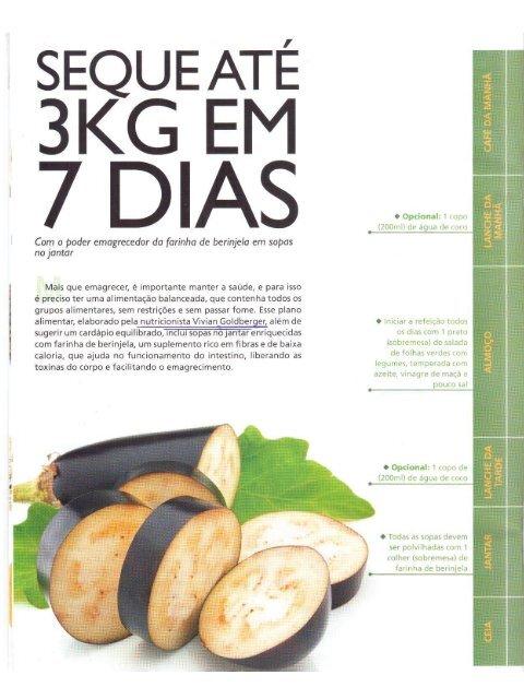 Dieta para 7 dias balanceada