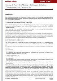 Farinha de Trigo e Pré-Misturas - Substituição Tributária ... - Contadez