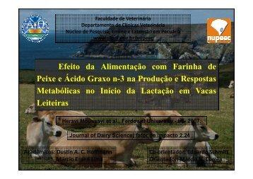 Efeito da Alimentação com Farinha de Peixe e Ácido Graxo n-3 na ...
