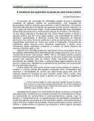 A resistência dos quilombos na poesia de José ... - FALE - UFMG